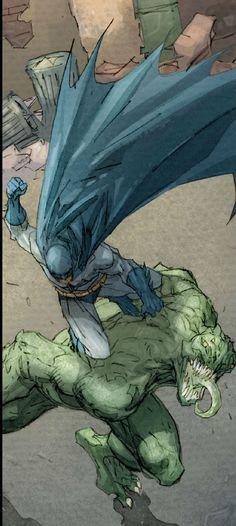 love it!!  Batman vs Croc by Jim Lee