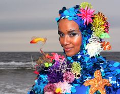 Coral reef costume.