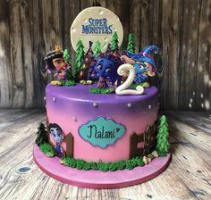 Netflix Super Monsters Birthday Cakes Monster Birthday Cakes, Monster First Birthday, Monster 1st Birthdays, Monster Birthday Parties, Monster Party, First Birthdays, Halloween Birthday, Birthday Fun, Second Birthday Ideas