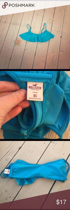 Blue Bikini Top from Hollister Your summer just got better, ladies! In this vibrant blue bikini top you can't be stopped. I recommend this to smaller chested women due to the amount of fabric and space. Hollister Swim Bikinis