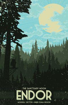 Waldmond von Endor Urlaub Poster 12 x 18 Zoll von MattPepplerArt
