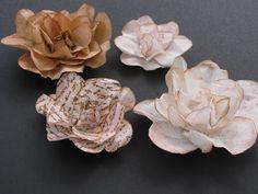 Et voici de quoi faire de très jolies fleurs en papier de filtre à café ;)