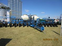 Front of 14 row Kinze 3600 corn planter