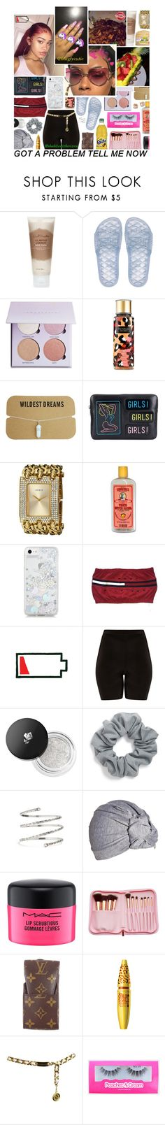 """""""I'll be with you from dusk til dawn"""" by liluglycutie ❤ liked on Polyvore featuring Carol's Daughter, Anastasia Beverly Hills, Victoria's Secret, Yazbukey, GUESS, Alöe, GET LOST, Skinnydip, Lancôme and Natasha"""