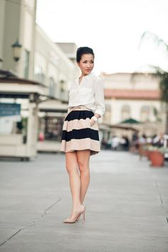 Spring Breeze :: Panel skirt (i love this girls style!! shes so adorable)