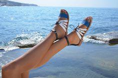 Kamares elegant handmade leather sandal Greek by LoveFromCyprus