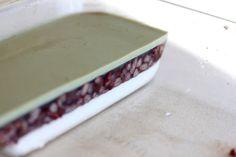 Green Cilantro: Coconut, Red bean and Matcha Agar Agar