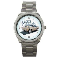 1972 Ford Pinto Logo Sport Metal Watch | zarkop - Jewelry on ArtFire