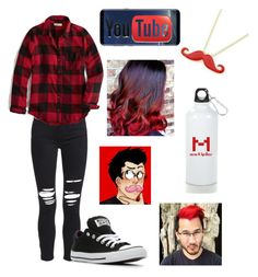 """""""Markiplier"""" by abby-mccoy1022 ❤ liked on Polyvore featuring AMIRI, Hollister Co., Converse and Samsung"""
