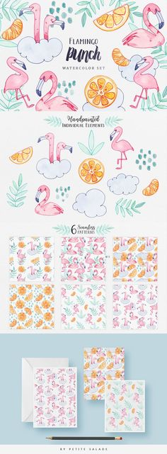 Flamingo Punch by Petite Salade on @creativemarket