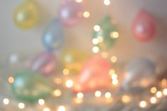 Balloons and lights