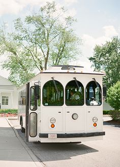 Trolley Bus | KT Merry Photography | Blog.theknot.com
