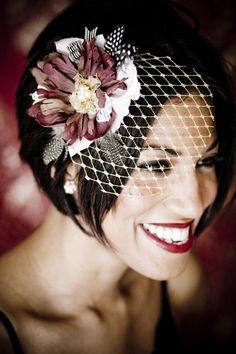 68 Ideas For Wedding Veils Short Birdcage Hair Pieces Hair Styles 2014, Short Hair Styles, Bob Hairstyles, Wedding Hairstyles, Short Bridal Hair, Short Wedding Veils, Trendy Wedding, Short Veil, Wedding Hats