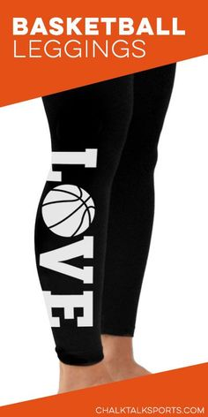 LOVE basketball leggings- View all of our leggings at ChalkTalkSports.com/basketball