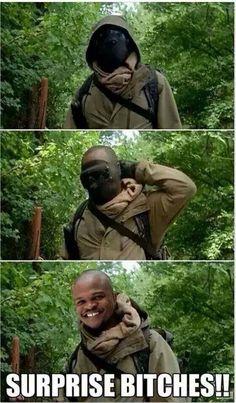 Haha T-Dog :) The Walking Dead funny meme