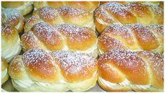 Milchbrötchen mit Vanillecreme – Gesunde Rezepte Vanilla Sugar, Vanilla Flavoring, Nom Nom, Snacks, Dinner, Cake, Desserts, Recipes, Sweets
