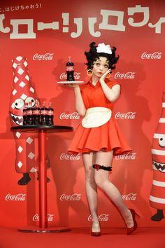 Kyary Pamyu Pamyu as Betty Boop! Betty Boop Kostüm, Betty Boop Makeup, Harajuku Fashion, Kawaii Fashion, Harajuku Style, Cool Costumes, Halloween Costumes, Betty Boop Halloween Costume, Coca Cola