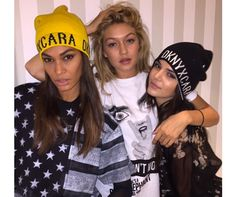 Kendall Jenner, Gigi Hadid and Joan Smalls model Cara Delevingne's new DKNY line