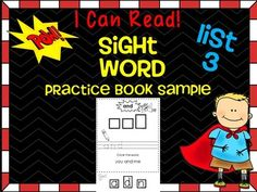 Sight Word (Dolch) Practice Book Sample ~ Free NOTE: THIS is a SAMPLE of our larger bundle that can be found in our store here  It is important for young readers to instantly recognize words by sight in order to build reading fluency. It is also important for readers to practice words in meaningful context through phrase and sentence reading practice.