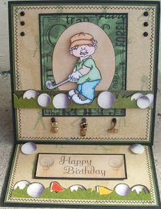 handmade golf card for men