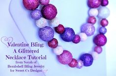 Valentine Bling: a Glittered Necklace Tutorial - Sweet C's Designs