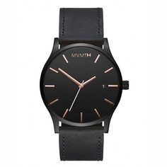 a17dfdf95f85 Classic Black Rose Leather #bestbrands Mvmt Watches, Fossil Watches For  Men, Armani Watches