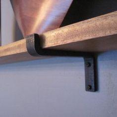 Black Iron Shelf Brackets by Jonathan Tinoco Pretty awesome website.