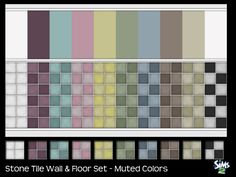 sailfindragon - Stone Tile Wall & Floors - Muted Colors