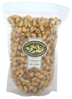 Fiddyment Farms 3lb Sea Salt  Pepper Inshell Pistachios ** Details can be found by clicking on the image.