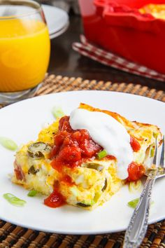 Ham and Cheese Egg Casserole.  You can use leftover ham in this great high protein, low-carb breakfast casserole.