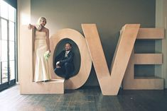 Erin and Tyson's Modern Church Street Enoteca Wedding Modern Decoration modern church wedding decorations Giant Letters, Cardboard Letters, Cardboard Art, Marquee Letters, Large Letters, Church Wedding Decorations, Wedding Church, Modern Church, Church Stage