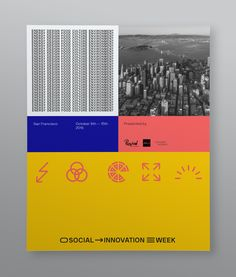 Social Innovation Week is an event hosted in San Francisco that introduces new methods and concepts in five different sectors:Energy,Design,Food,Culture & theEnvironment. The branding of the event is based on typography, color and icons. The main logo of the event is a variable one that can easily be adapted depending on the media. Also the …