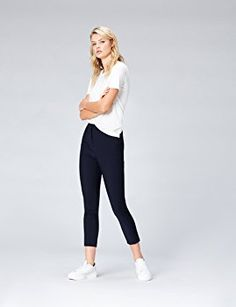 low priced a03c4 1bcf0 FIND Women s Cropped Zip Detail Skinny Trousers
