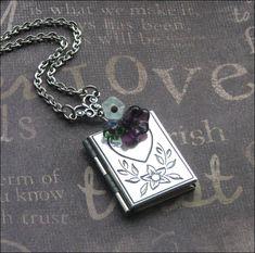LOCKET Book Locket Heart Locket Necklace by TheEnchantedLocket