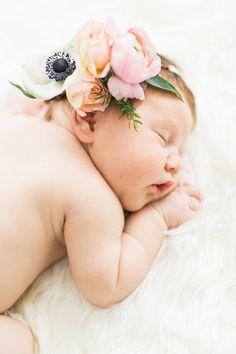 flower crown newborn photos