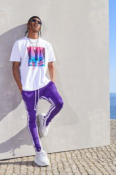 Dope Outfits For Guys, Swag Outfits Men, Stylish Mens Outfits, Sporty Outfits, Simple Outfits, Mode Streetwear, Streetwear Fashion, Rapper Outfits, Black Men Street Fashion