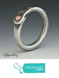 Rustic Silver Ring Hammered Texture Ring Mixed Metal Ring Jewelry Copper Sterling Silver Oxidized Patina Rivet Ring Thumb Ring Cold Connection Ring http://www.amazon.com/dp/B016PHFVXW/ref=hnd_sw_r_pi_dp_DCeiwb160DJBX #handmadeatamazon - best place to buy mens jewelry, cyber monday mens jewelry, mens cheap jewelry