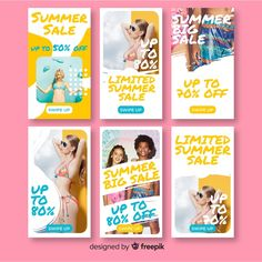 Mood Instagram, Instagram Design, Card Templates, Templates Free, Summer Banner, Sale Flyer, Branding, Instagram Story Template, Party Poster