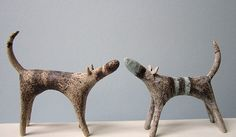 Ceramics by Claire Ireland at Studiopottery.co.uk - 2012. Small Dogs