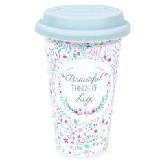 This floral print china travel mug is so pretty! And perfect for any mum on the go!