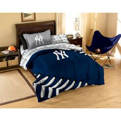 New York Yankees MLB Bed in a Bag (Contrast Series)(Twin)