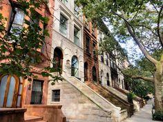 De prachtige brownstones van West 88th Street