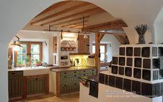Kitchen Island, Kitchen Cabinets, Sweet Home, Cottage, Table, Furniture, Kitchens, Design, Home Decor