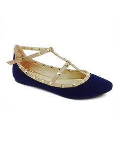Look what I found on #zulily! Navy & Nude Object Flat #zulilyfinds