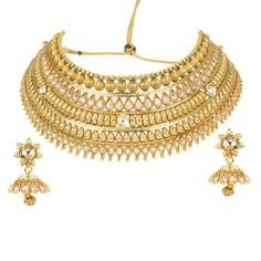 Stunning Gold Plated Bridal Wear Necklace Set2035