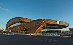 Barclays Center by SHoP Architects, Brooklyn, New York New York Architecture, Contemporary Architecture, Modern Buildings, Beautiful Buildings, Shop Architects, Barclays Center, Presidential Libraries, Washington Park, Unusual Homes
