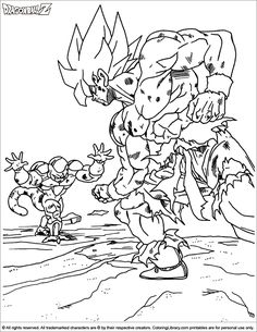 Dragon Ball Z Coloring Page