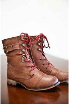 In Your Footsteps Lace Up Boots