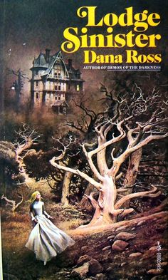 Lodge Sinister by Dana Ross. Lucy marries lumber baron Charles Prentiss, but she feels a sinister and threatening presence upon her arrival at the grim dwelling of the Seven Timbers Lodge. Is it true that the ghost of the first Mrs. Prentiss really haunts the grim home?