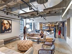 Rockwell Group has designed the new offices of entertainment and talent agency WME/IMG in New York City.